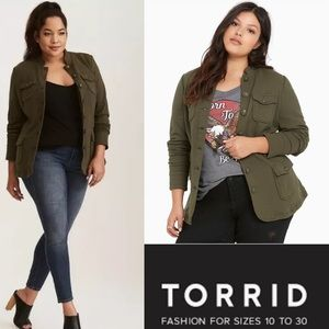 TORRID French Terry Military Jacket